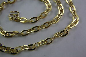 Stainless-Steel-Rhinestone-Gold-Chain-Anchor-Necklace-5-mm-Wide-60-Long-391