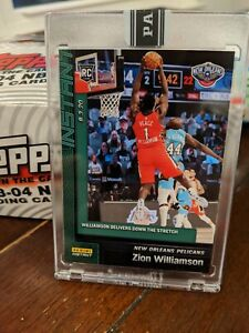 ZION-WILLIAMSON-Rookie-Card-RC-Panini-Instant-8-3-20-134-Green-Parallel-d-10
