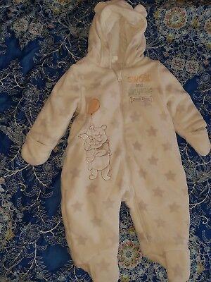 Baby Plüsch Overall mit Umschlaghandschuhe /& füßen Winteroverall gefüttert 74-80