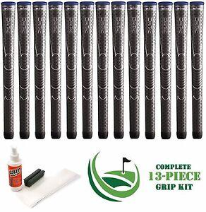 13-x-Winn-Dri-Tac-DriTac-Dark-Gray-Grey-Midsize-6DT-DG-Golf-Grips-Install-Kit