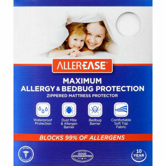 AllerEase Allergy Zippered Hypoallergenic Waterproof Mattress Protector