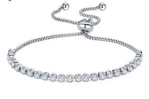Strass-Armband-Silber-Zirkonia-Armreif-Luxus