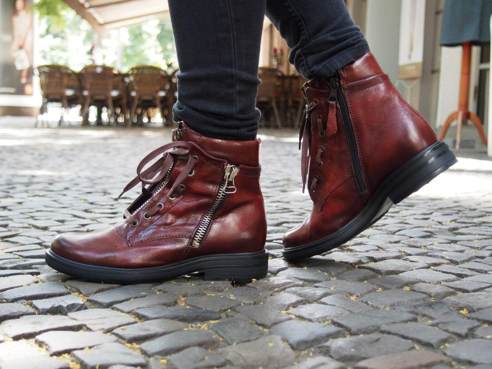 MJUS Schuhe CAFE oriente 544206 rot Echtleder Stiefel Damen Stiefelette NEU AS98