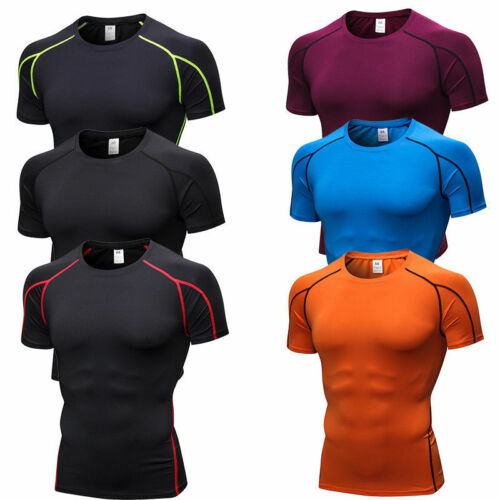 Mens Compression Sport Gym Course Fitness shirts Respirant Outdoor Tight Fit