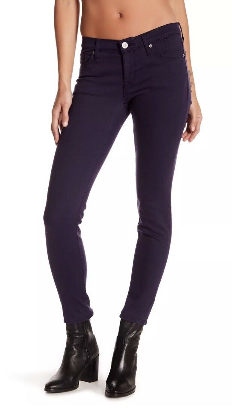 HUDSON Krista Visionary Skinny Ankle Jeans Purple Stretch Denim Sz 25 New Tags