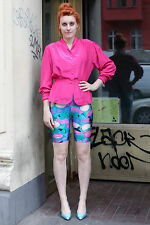 Me and You Leggings Hose pants bunt colorful Obst 80er True VINTAGE 80s women