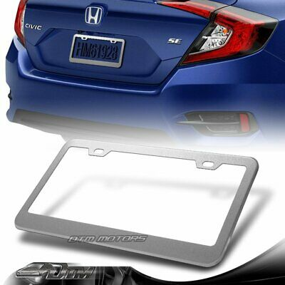 1 x Silver Aluminum Alloy Car License Plate Frame Cover Front Or Rear US Size