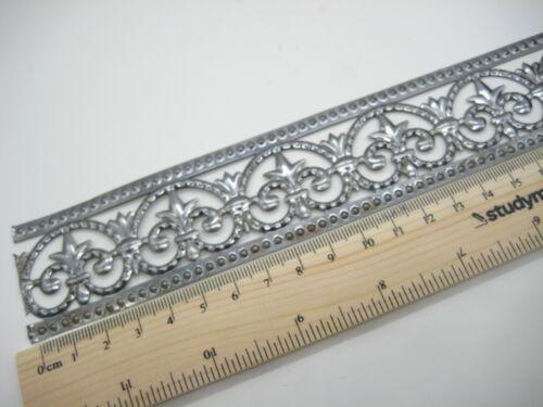 #10 Metal Trim 20cm//8.5 inch long Ribbon Lace Filigree Embossed Mixed media