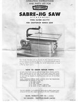 C.1960s Craftsman 605.21751 Sabre-jig Saw Attachment (to Bench Saw)
