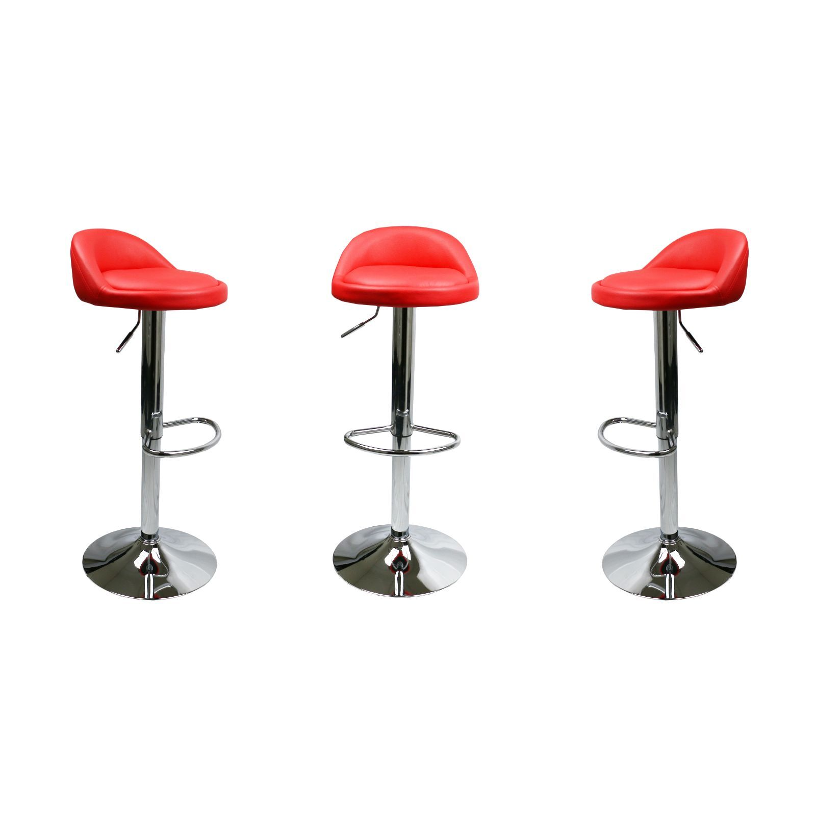 Swell Details About Set Of 2 Red Leather Bar Stools Swivel Dinning Counter Adjustable Height Chair Unemploymentrelief Wooden Chair Designs For Living Room Unemploymentrelieforg