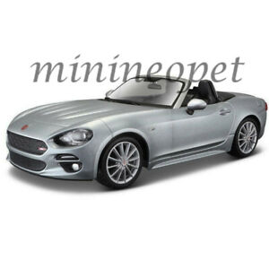 BBURAGO-18-21083-FIAT-124-SPIDER-COUPE-1-24-DIECAST-MODEL-CAR-GREY