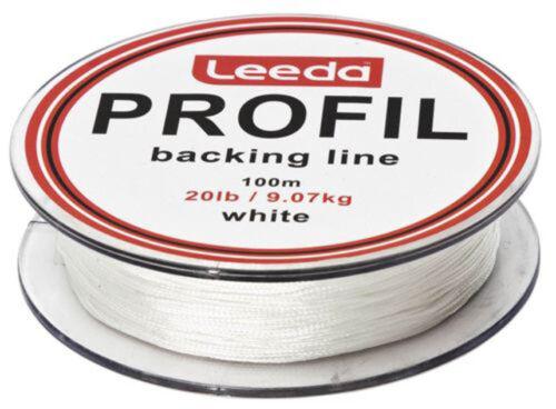 Trout//Salmon Fishing 3 Colours Leeda Profil Fly Fishing Backing Line,100m,20lb