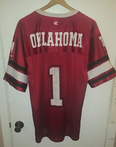 Oklahoma Sooners Football Jersey Men s Maroon Size Medium Colosseum ... 1dc95a8a1
