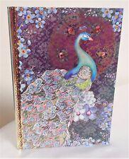 Pooch & Sweetheart Pink Jeweled Peacock Diary Journal Diary Notebook Hardback