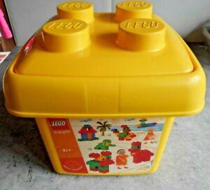 Intelligent Coffret Lego - [ Jaune ] - Boite De Rangement - 20 X 20 X 20 Cm Forme éLéGante
