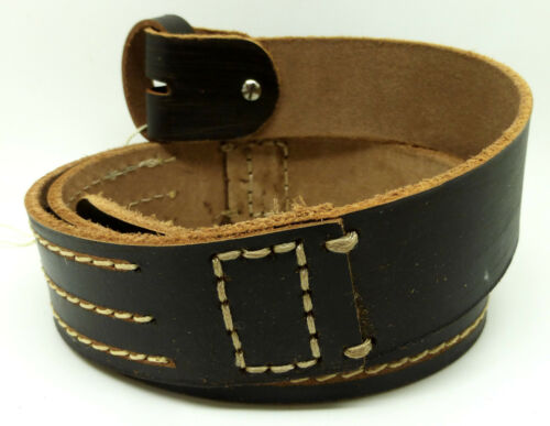 100/% Real Brown Leather Buckle Belt Strap Size S M L XL XXL Ideal For Buckles