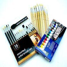 Pintura al óleo Artistas Arte Fino Mezclado Kit Conjunto de Pinceles Color Pintores aceites Tubos