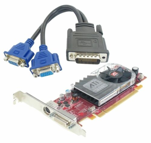 DUAL SCREEN DMS-59 LOW Profile Video Card With DMS-59 To Dual VGA Combo Pack