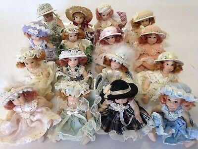 5 inch 12 Miniature porcelain dolls Lot Belle Regency Vintage-style No Box