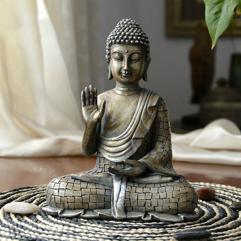 Resina Imitazione di Rame Buddismo Bodhisattva Sakyamuni Buddha Statue India