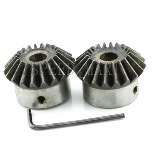 2 X 2M-20T Metal Umbrella Tooth Bevel Gear Helical Motor Gear 20 Tooth 16mm Bore