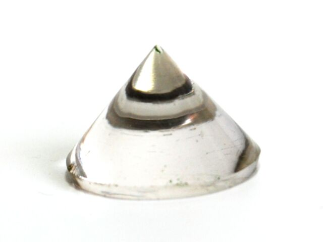 REIKI ENERGY CHARGED HEALING BRAZILIAN CLEAR QUARTZ CONICAL PYRAMID CRYSTAL GIFT