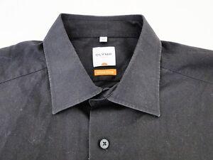 olymp luxor slim line herren hemd langarm schwarz. Black Bedroom Furniture Sets. Home Design Ideas