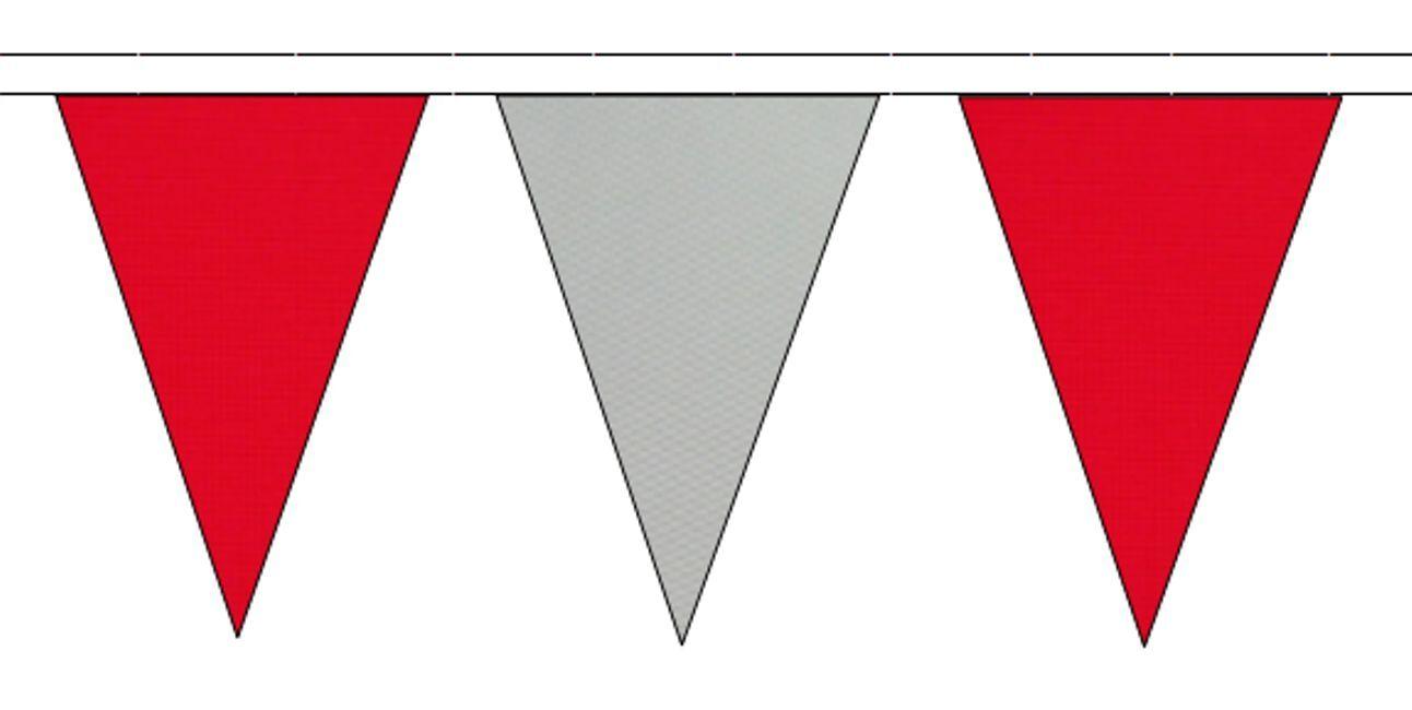 Rouge & Gris Triangulaire Banderole Drapeaux 50m avec 120 120 120 Drapeaux df4f50