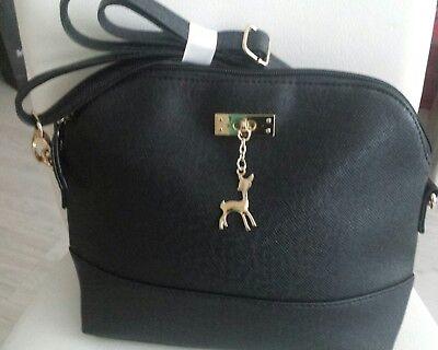 Tasche Bambi Abendtasche Handtasche Schultertasche Clutch schwarz v. Heine
