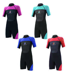 Legacy-3-2mm-Childs-Kids-Junior-Teenage-Shortie-Wetsuit-Short-Wet-Suit-Age-4-16