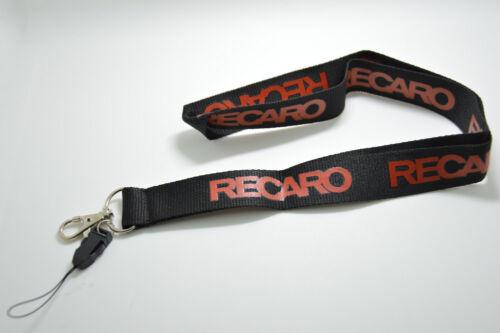 RECARO Lanyard Racing Motorsport Universal Neck Strap Key Chain JDM Drift