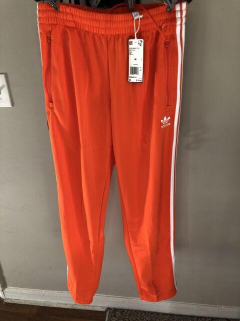 Men's Adidas FIREBIRD TRACK PANTS Size Medium M Orange