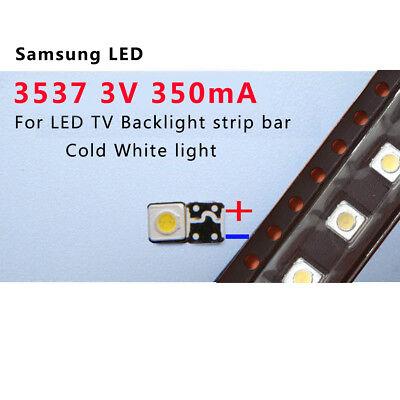 100Pcs 3535 SMD Perles de la lampe 3V pour la réparation de bande de