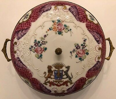 Antique Samson Armorial Porcelain Plate