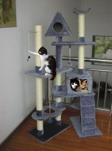 Superb-Extra-Large-8-Level-Cat-Scratching-Post-Activity-Centre-Scratcher