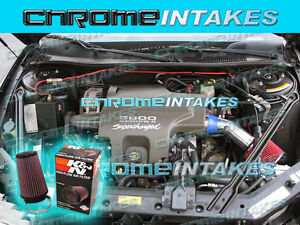 97 98 99 00-05 CHEVY MONTE CARLO PONTIAC GRAND PRIX 3.8L AIR INTAKE+K/&N Blue Red