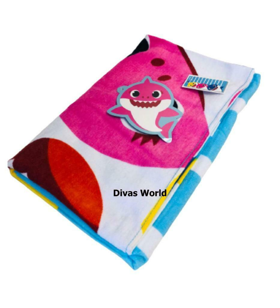 Multicoloured Cotton Towels Pinkfong Baby Shark Pool Bath Kids Novelty Primark