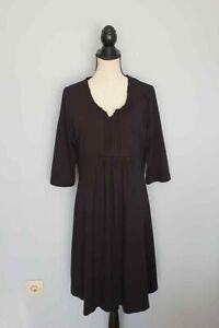 Damen-DEERBERG-Schwarz-Dress-Kleider-Langarm-Gr-L