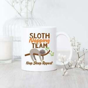 Sloth Napping Team Mug Sloth Mug Sloth Gift Sloth Lover Mug Sloth Coffee Mug