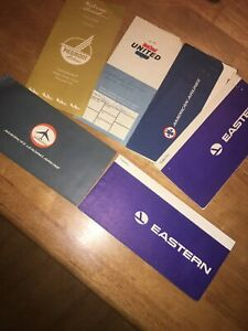 6-Vintage-Airline-Travel-Ticket-Holders-Piedmont-united-American-Airlines-etc