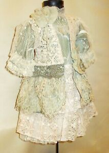 Cotton-dress-for-antique-dolls-50-65-cm-20-25-inches-Length-40-cm-15-5-in