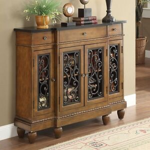 Vidi Accent Hallway Console Sofa Table Chest Metal Decor