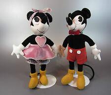 Vintage  Mickey Mouse & Minnie Stuffed Plush Toys IECHYD DA Antique Velvet