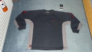 Details zu adidas Pullover, Sweatshirt,Sportpullover grau, rot Gr. 164 TOP*****
