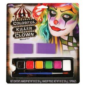 Colore-Clown-Tueur-Kit-Maquillage-Adultes-Deguisement-Halloween-Visage-Peintures