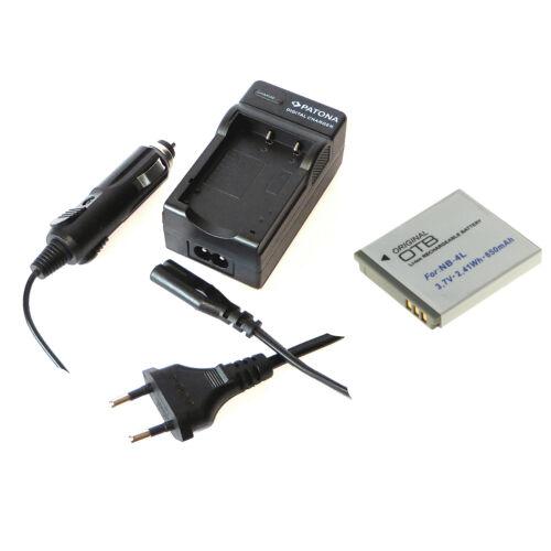 Akku Ersatzakku und Ladegerät für Canon Ixus 100 IS und Canon Ixus 110 IS  NB-4L
