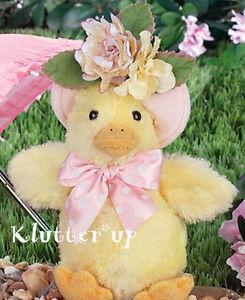"Bearington Bear MISSY MCQUACKERS  8"" Duck Easter #420304 SPRING 2015 MAKES NOISE"