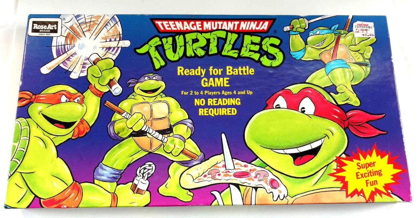 Vintage TMNT 90s Teenage Mutant Mutant Mutant Ninja Turtles Ready for Battle Board Game Sealed cc561f