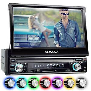 AUTORADIO-MIT-18cm-HD-TOUCHSCREEN-VIDEO-BILDSCHIRM-BLUETOOTH-USB-SD-MP3-AUX-1DIN