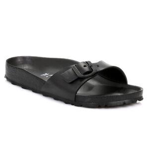 706869117 Image is loading Birkenstock-Womens-Black-Madrid-EVA-Sandals-Lightweight- Adjustable-